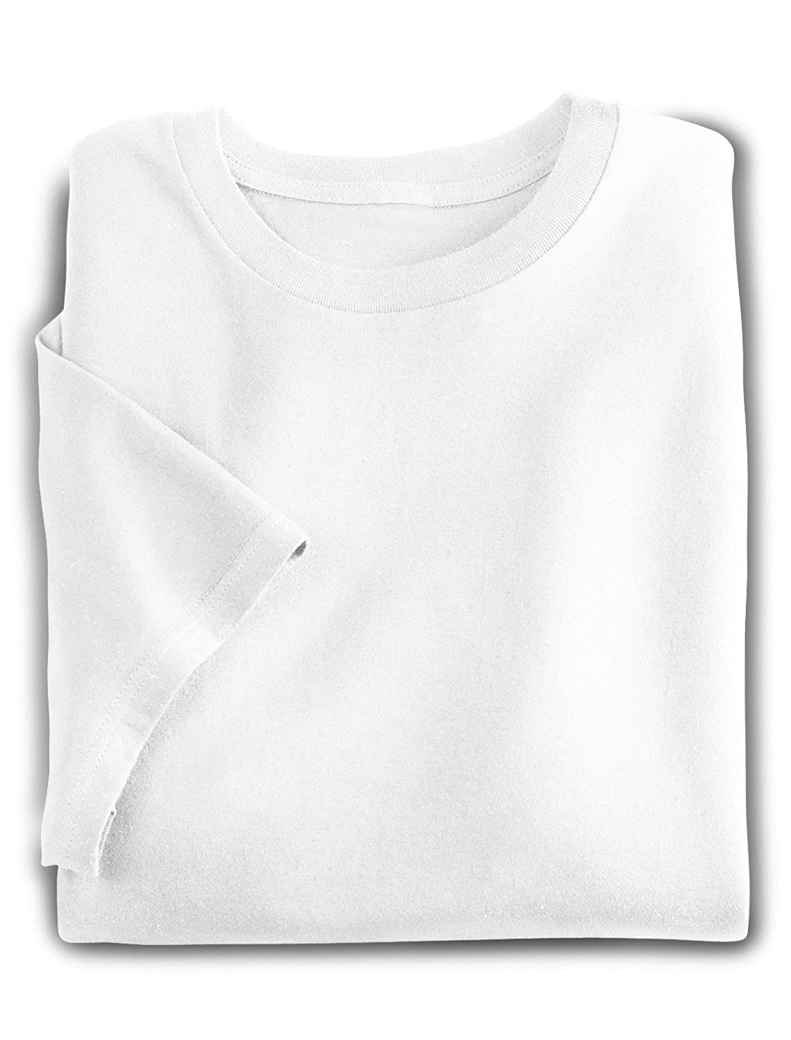 Harbor Bay DXL Big and Tall 2-Pack Crewneck T-Shirts White)