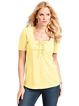 kostengünstig Luxusmode Leistungssportbekleidung Damen-Shirt - gelb - Gr.48 - Sieh an! - 704426: Amazon.de ...