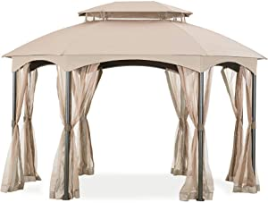 Garden Winds Replacement Canopy for The Manhattan Oval Gazebo - Standard 350 - Beige