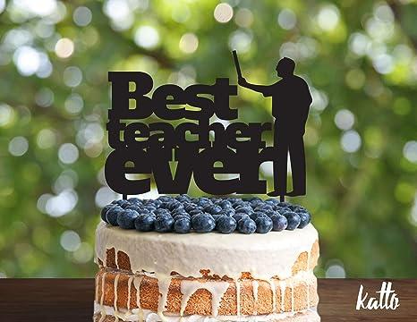 Strange Teacher Birthday Cake Topper Customizable Cake Topper Best Teacher Birthday Cards Printable Inklcafe Filternl