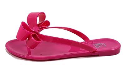 1bfae8e1774ad New Kali Women s Summer Jelly Bows Thong Flip Flop Flats Sandals-Ribbon (6