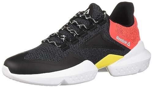 Reebok Split Fuel, Black/True Grey/neon Primal red/go Yellow/White, 9.5 M US