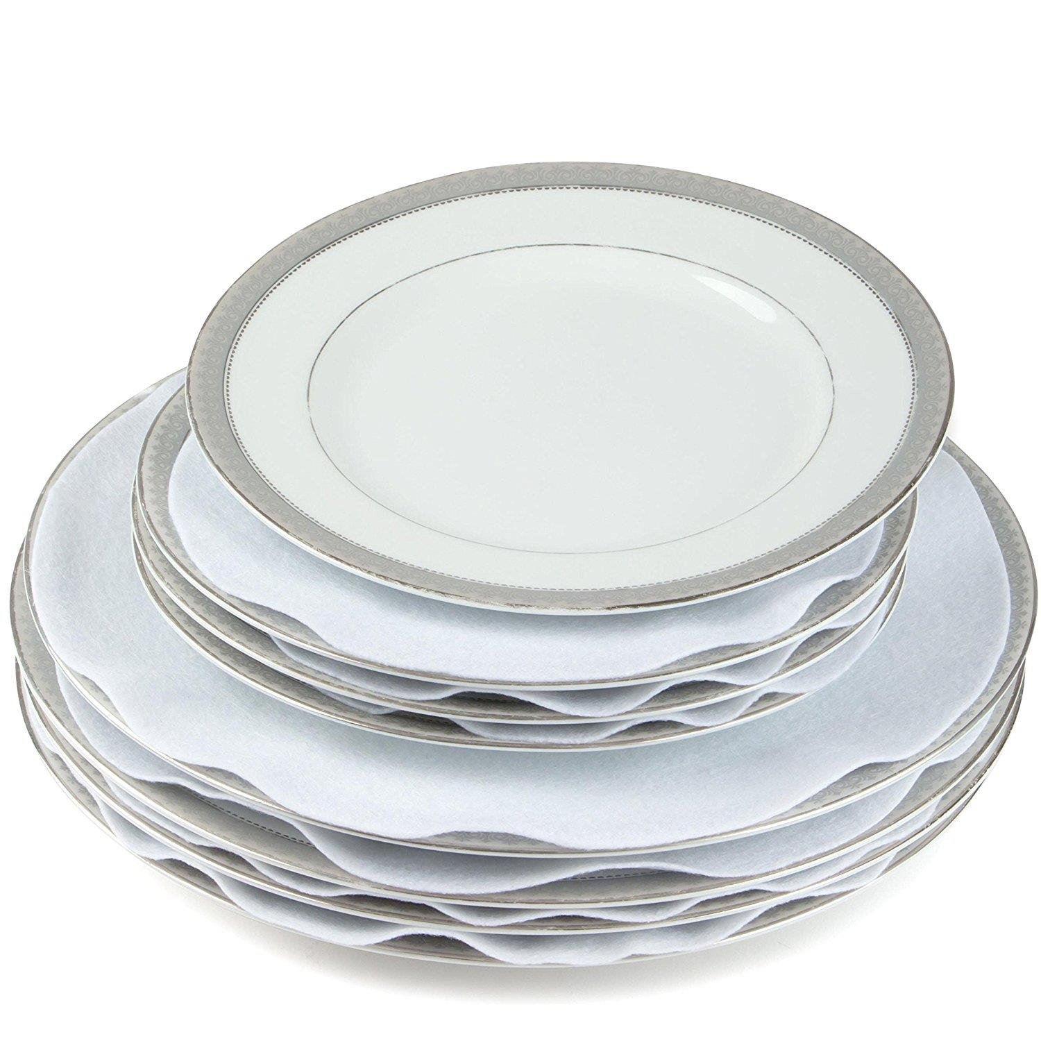 Includes 10 Diameter Dinner Plate Dividers, 12 Set of 48 4.5 Diameter Saucer//Bread /& Butter Plate Dividers 24 6 Diameter Salad//Dessert Plate Dividers, 12 BLACK LAMINET Felt Dividers