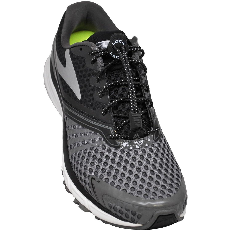 Amazon.com: LOCK LACES (Elastic No Tie Shoe Laces) (Pack of 3)  (Black-Black-Black): Shoes