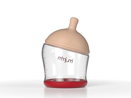 mimijumi Not So Hungry Breastfeeding Baby Bottle,4oz