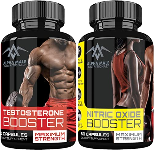 Alpha Male Combo Punch with Testosterone Booster Nitric Oxide Booster – Stamina – Endurance – Strength – Fortifies Metabolism – Promotes Healthy Weight Loss, Fat Burning and Build More Muscle