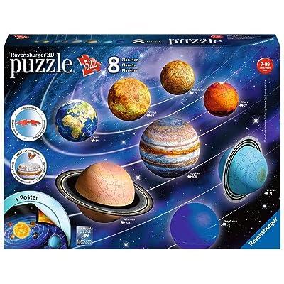 Ravensburger 11668 3D Puzzle Solar System, Multicolor: Toys & Games