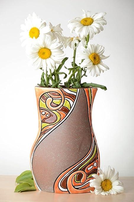 Amazon Stylish Handmade Ceramic Vase Unusual Flower Vase Room