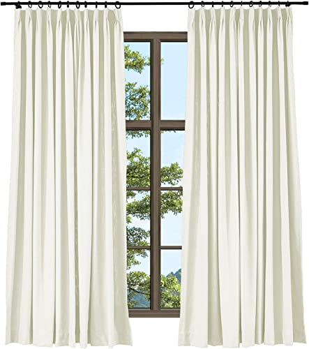 TWOPAGES Natural Linen Cotton Pinch Pleat Curtain