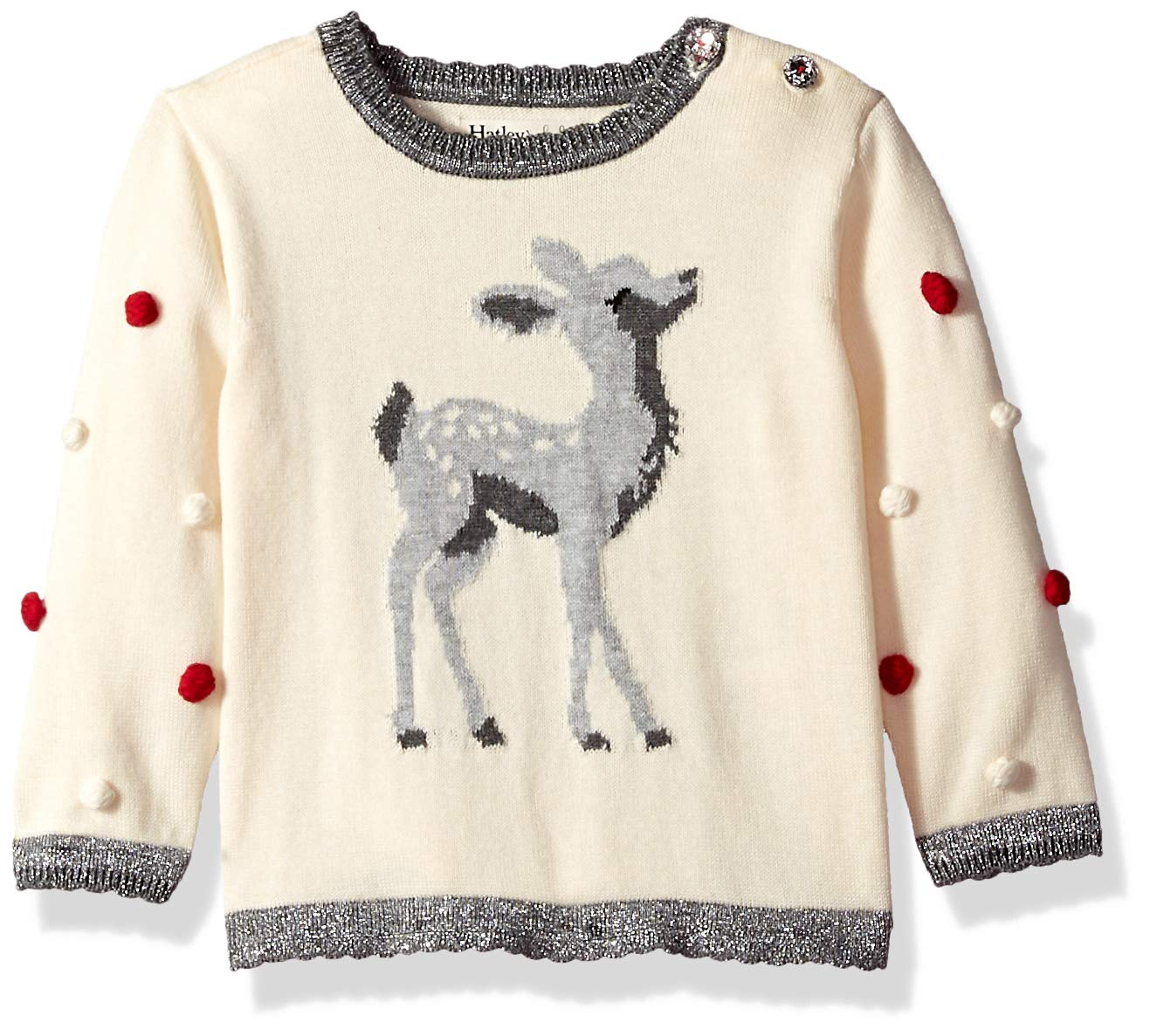 Hatley Baby Girls Sweaters, Delightful Fawn pom, 9-12 Months by Hatley