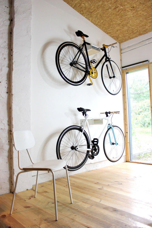 con placas de madera diversos Soporte de bicicleta V shelf negro