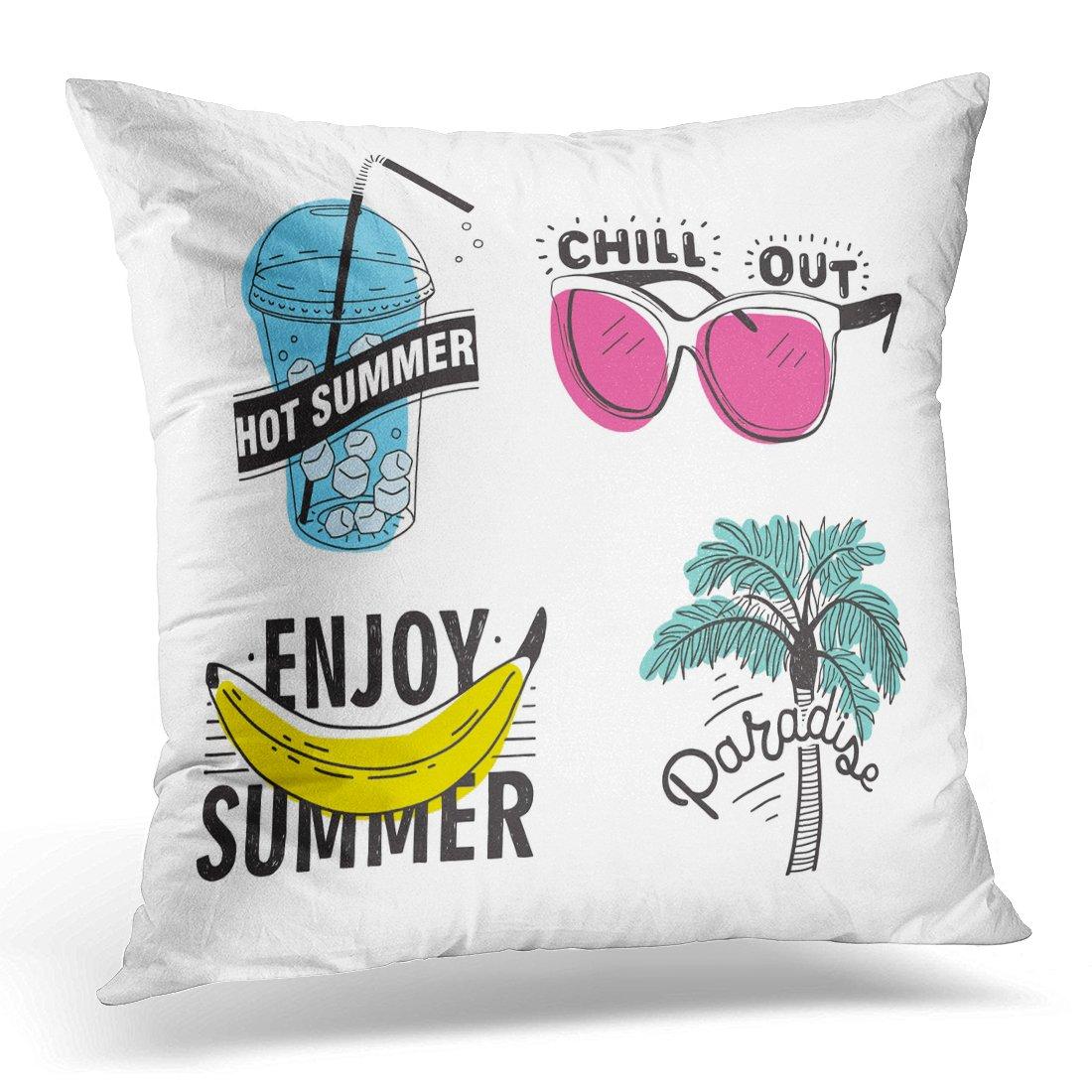 Amazon.com: Emvency Decorative Pillow Cover Beach of ...