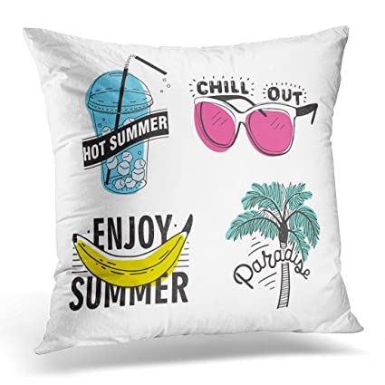 Amazon.com: Emvency Decorative Pillow Cover Beach of ...