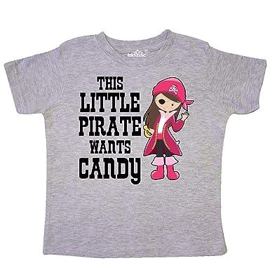 inktastic Girls Cute Pirate Toddler T-Shirt