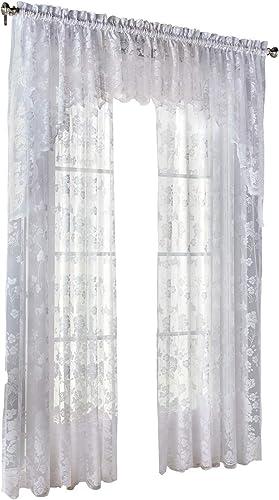 BrylaneHome Floral Vine Swag – 60I W 38I L, White