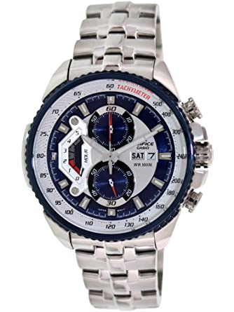 f13e6b9a3e21 Amazon.com  Casio  EF558D-2AV Men s Edifice Stainless Steel Sports Analog Chronograph  Watch  Casio  Watches