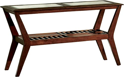 Furniture of America Bruin Sofa Table, Dark Cherry