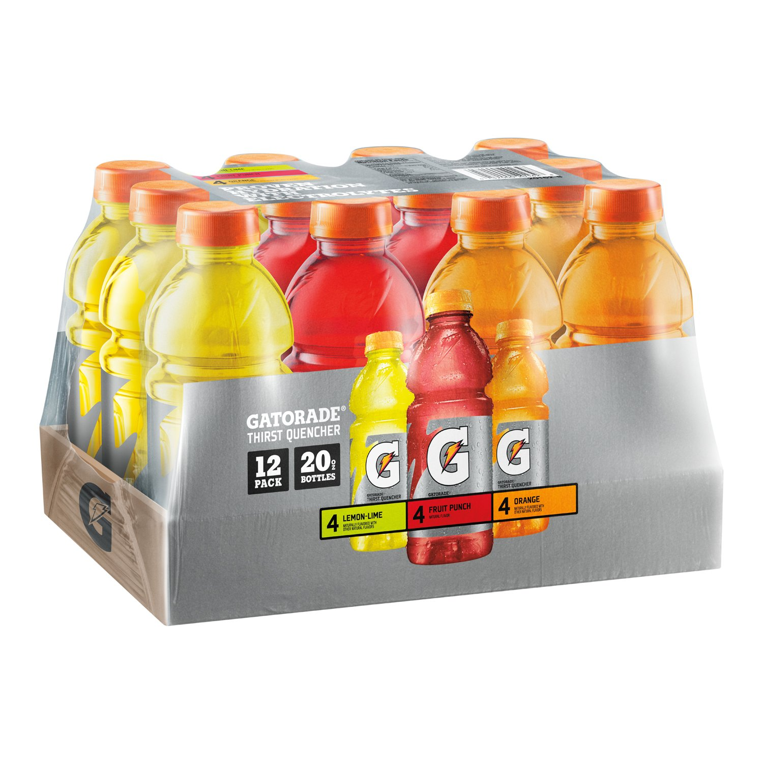 Amazon.com : Gatorade Original Thirst Quencher Variety Pack, 20 Ounce  Bottles (Pack of 12) : Grocery & Gourmet Food
