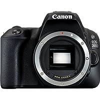 Canon EOS 200D + 18-55 DC III + 100EG + SD 16GB Juego de cámara SLR 24.2MP CMOS 6000 x 4000Pixeles Negro - Cámara digital (24,2 MP, 6000 x 4000 Pixeles, CMOS, Full HD, Pantalla táctil, Negro)