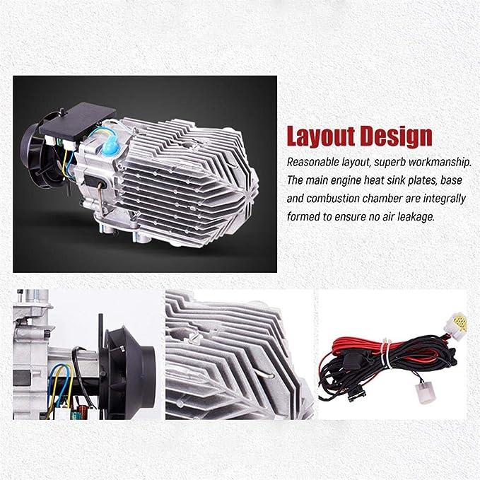 lennonsi Calentador de Aire Diesel automotriz Calentador de Combustible 5KW 12V / 24V Monitor de LCD de Cuatro Orificios Mejora el termostato LCD para ...