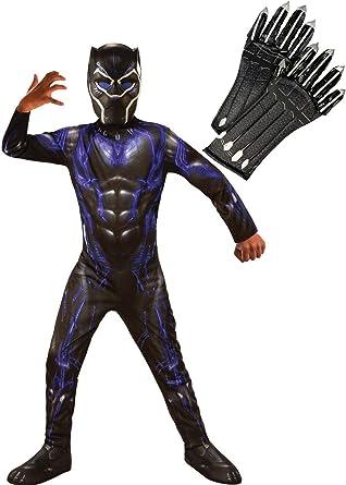 Endgame - Disfraz de Pantera Negra para niños, Color Morado ...