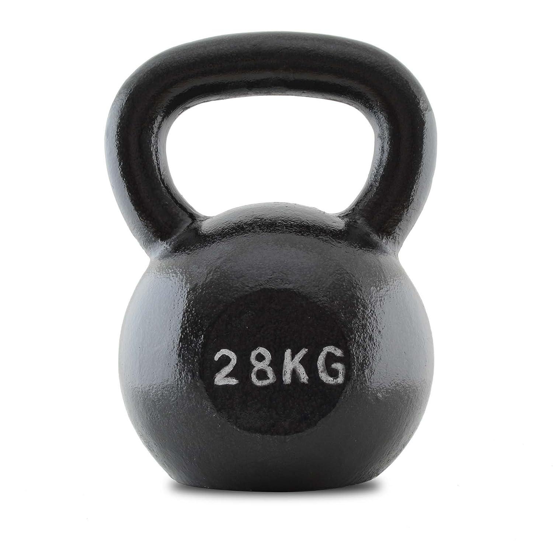 Bodymax Erwachsene Kettlebell, Gusseisen, 28 Kg, WTKB0007
