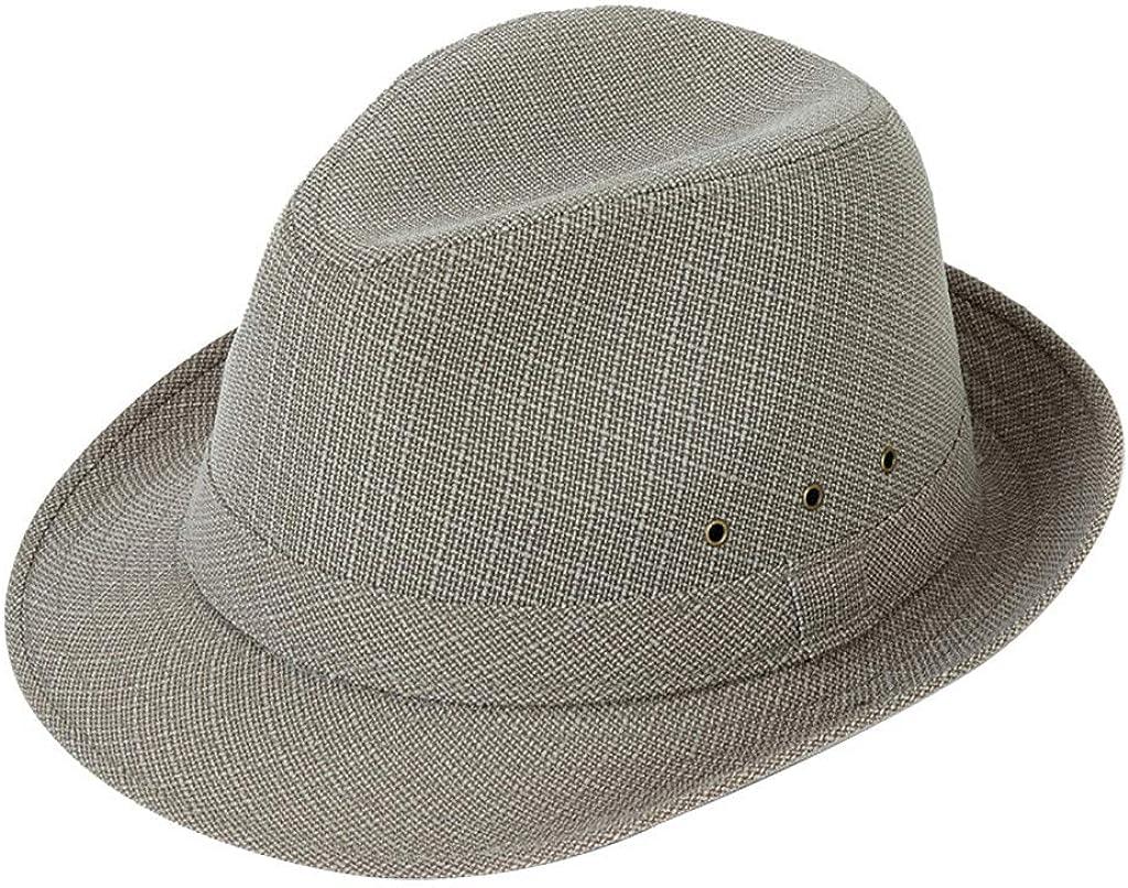 HCFKJ Sombrero Playa Mujer Sombrero Trilby Gangster Playa Sol Sombrero De Paja Banda Sombrero para El Sol