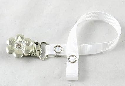 Chupete clip de soporte para Baby Girl/Boy (piedra de flores ...