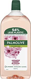 Palmolive Foaming Hand Wash Soap Japanese Cherry Blossom Refill and Save 0% Parabens Recyclable, 500mL