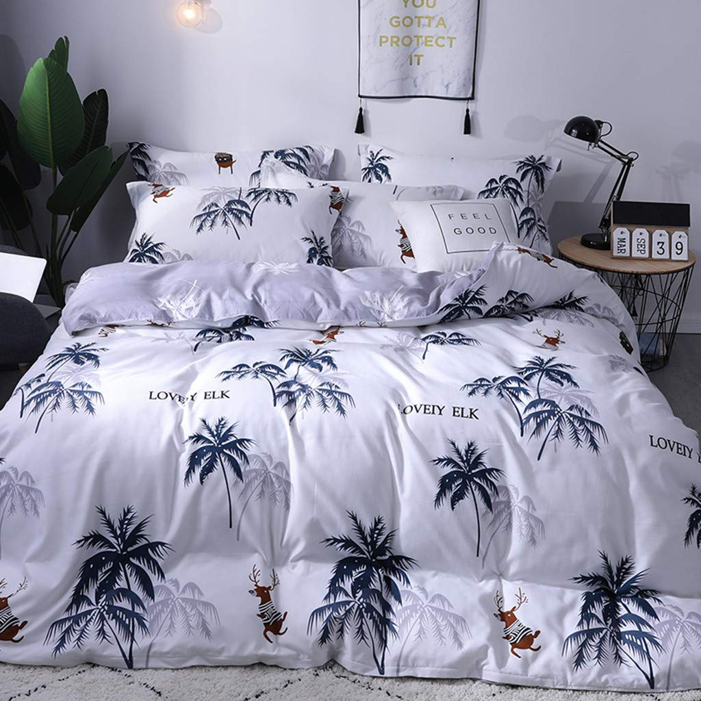 Beyonds Pure Soft 4 Piece Bed Set White Deep Pockets Bedding Set Includes x1 Duvet Cover x2 Pillowcases and x1 Fitted Sheet - Soft Polyester Fabric