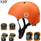 XJD 自転車 ヘルメット こども用 キッズプロテクターセット 調節可能 超軽量 高剛性 通気性 自転車 サイクリング 保護用 巾着袋付き
