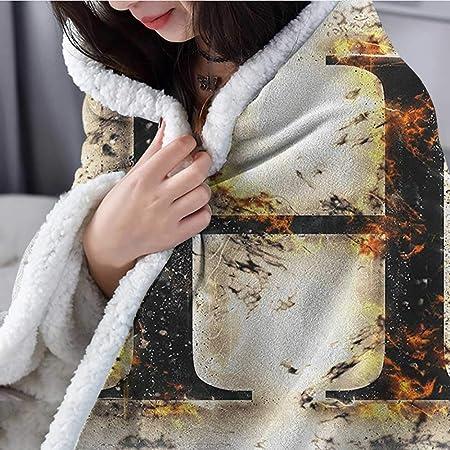 Amazon.com: Letra H Playa Manta Denim Letra Diseño Uppercase ...