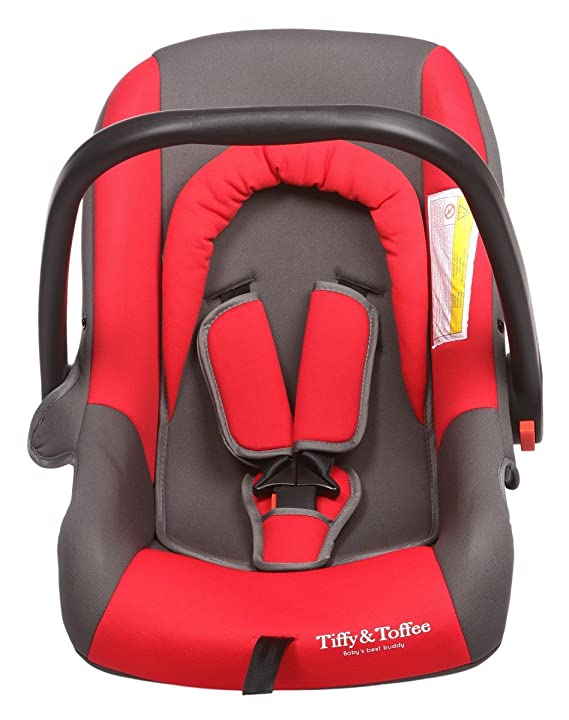 Tiffy & Toffee Maxi Safe Car Seat Cum Carry Cot, Red