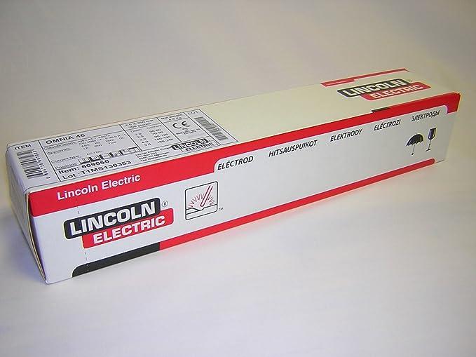Lincoln-Kd 609060 - Electrodo Rutilo Omnia 46 25X350 & Silverline 742076 - Guantes para soldador (330 mm)