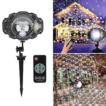 Laser Beleuchtung Garten | Weihnachten Laser Schneeflocke Projektor Lampe Outdoor Led