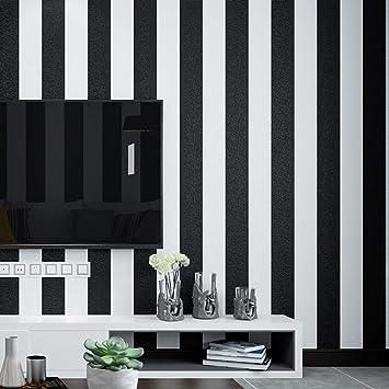 Black And White Stripes Wallpaper Non Self Sticking No 18686 Amazon Com
