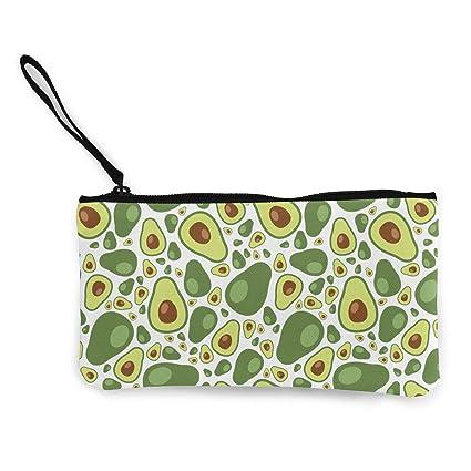 4d62f43da05d Amazon.com: XUJ YOGA Women Girls Change Purse Avocado Pattern ...