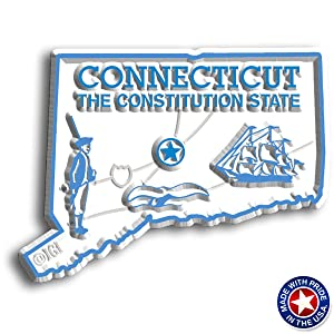 Connecticut State Map Magnet