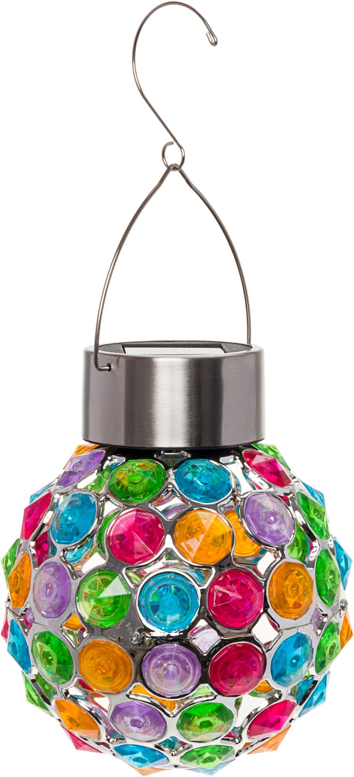 GreenLighting Outdoor Solar Hanging Lights - Decorative Ball Lantern for Patio, Garden by (Multi-Color)