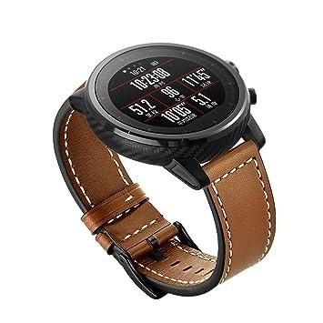 Correa de Cuero de Repuesto para Reloj Inteligente Huami Amazfit Stratos DE 22 mm
