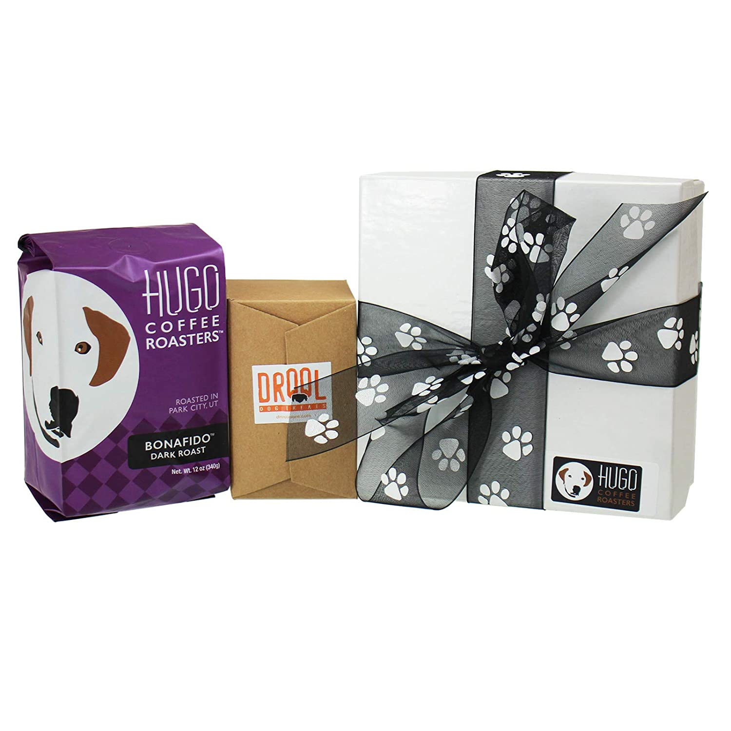 Hugo Coffee – Dog Treat Coffee Gift Set – Dog Lover Gifts for Women, Men, Their Canine Companions, Includes 12 Ounces of Gourmet Coffee Homemade Dog Treats