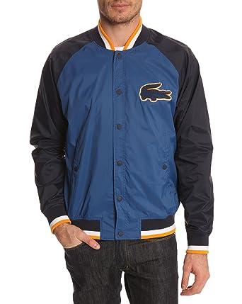 a2960b0a2830 Lacoste Live - Jackets - Men - Taffetas Flat Blue Waterproof Jacket for men  - 50  Amazon.co.uk  Clothing