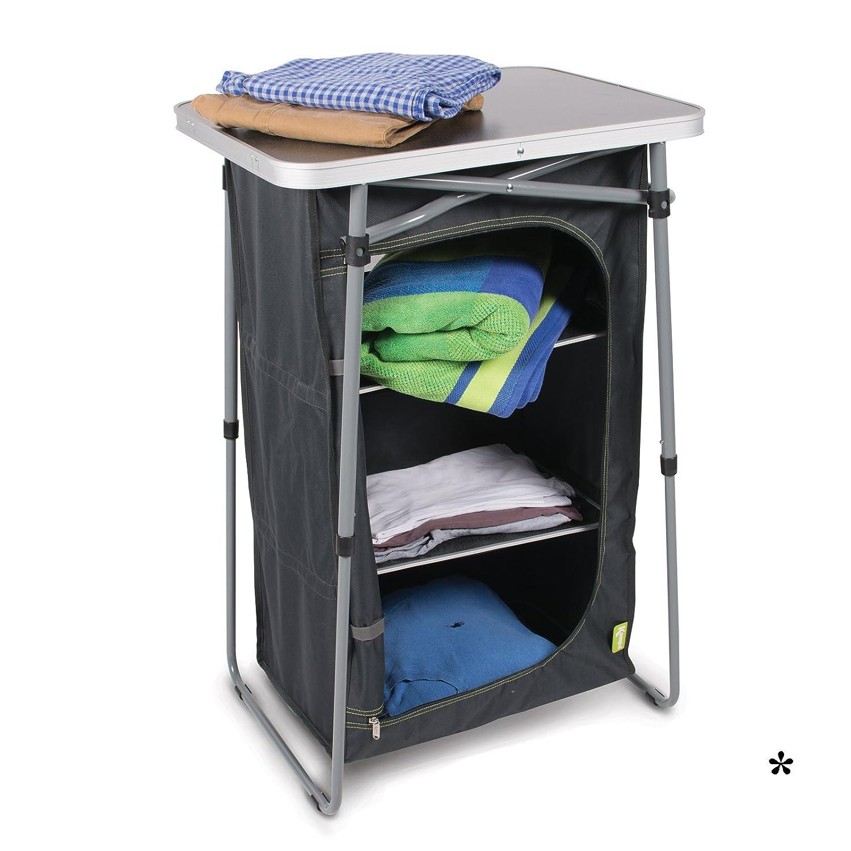 Faltschrank mit 3 Regalböden Aluminiumgestell einfacher Auf- und Abbau Tragetasche • Campingküche Campingschrank Camping Zubehör Outdoor Schrank Faltbar