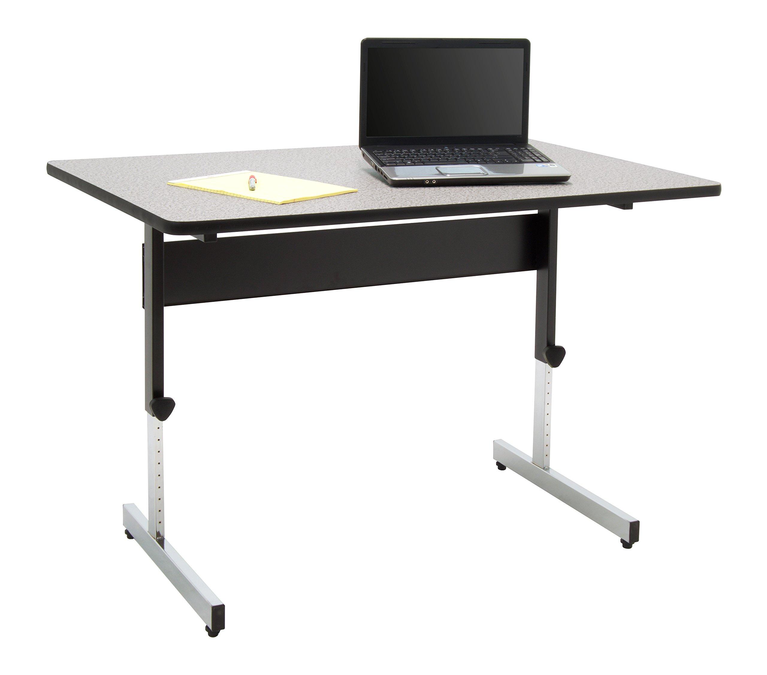 Calico Designs 410382.0 Adapta Desk, 48'', Black/Spatter Gray by Calico Designs (Image #4)