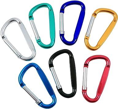 "Clip Color BLACK Hook New 2-3//4/"" Aluminum Carabiner D-Ring Key Chain"