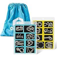 Coogam Metal Wire Puzzle Set de 16, Rompecabezas IQ Test Puzzle Desenreda Juego Magic Trick Toy Gift para niños y…