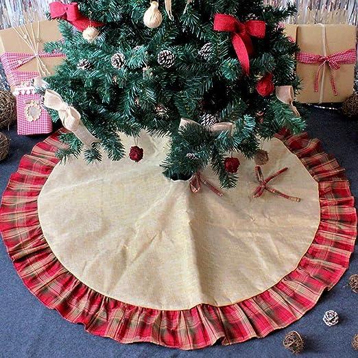 New_Soul Árbol de Navidad Decoración Árbol Falda para Decoraciones ...