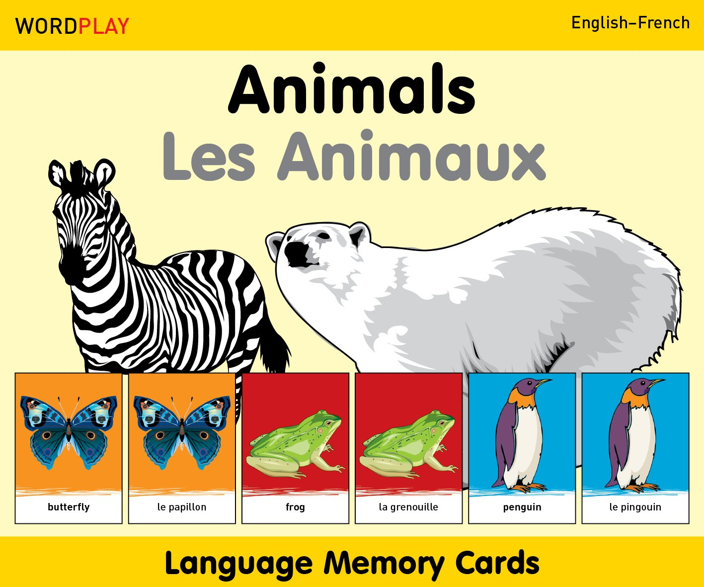 WordPlay Language Memory CardsAnimals (EnglishFrench)