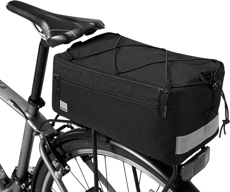 tragbare Schultertasche Fahrradzubeh/& Fahrradgep/äcktasche mit verstellbarem Schultergurt gro/ße Kapazit/ät strapazierf/ähige Fahrradtasche f/ür R/ücksitz wasserdichter Gep/äcktr/äger f/ür Fahrradtr/äger 25 l