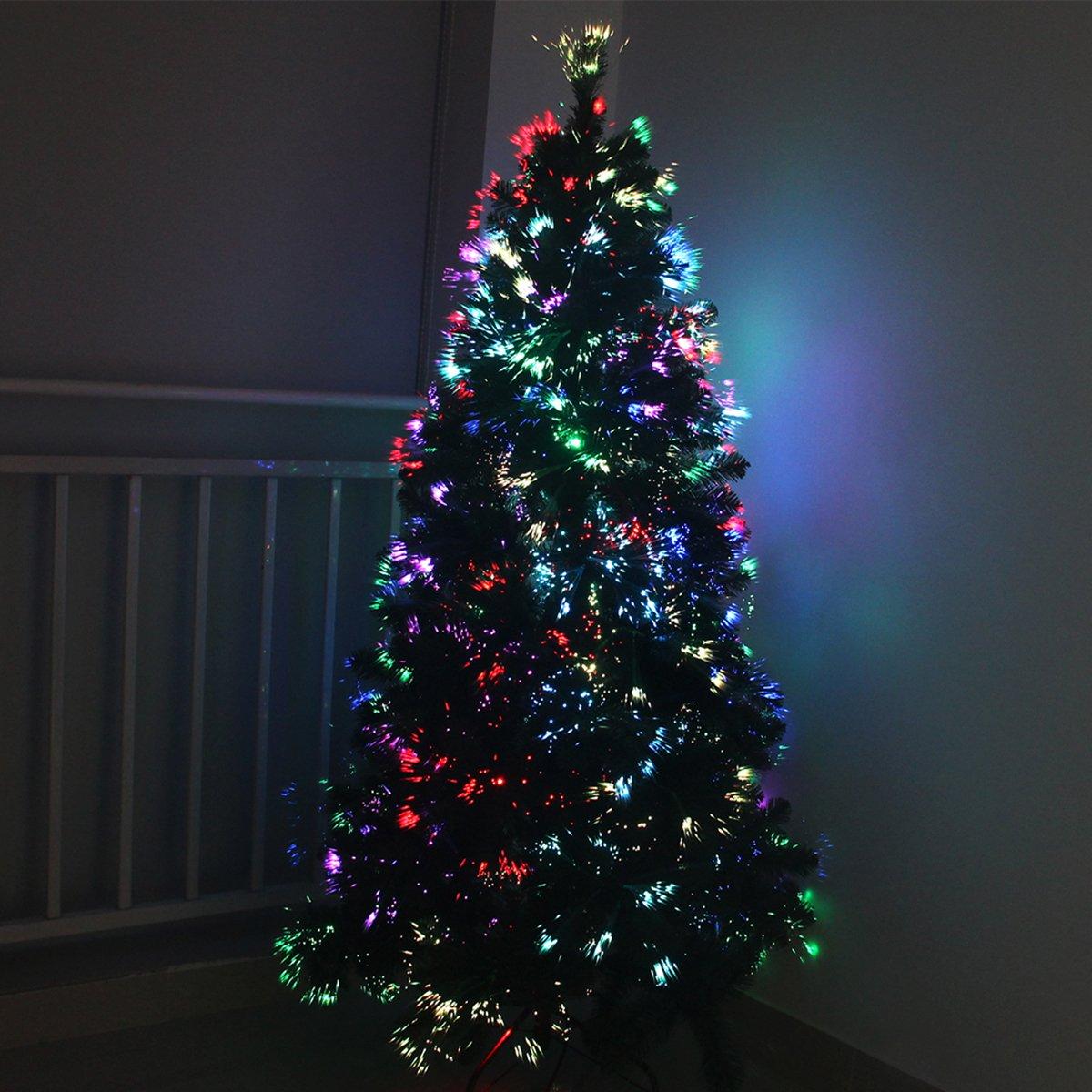 k nstlicher led weihnachtsbaum christbaum mit leds beleuchtet dekoration ebay. Black Bedroom Furniture Sets. Home Design Ideas